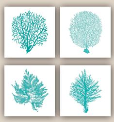 This listing is for a set of 4 sea fan illustration inspired by coral, seaweeds and sea fan. Nautical prints 8x8 inches size, 4 sea fan illustrations in teal on white background. Image size is 8x8 inches Paper size 8.30x8.30 inches Printed on heavyweight archival white matte Epson Paper with pigment inks professional printer. Please note that colors may vary due to your monitor settings. © AlgaNet - Copyright does not transfer with the sale of this print.