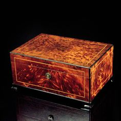 A beautiful art deco humidor from Dunhill
