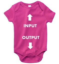 INPUT OUTPUT Baby Girl (Berry) Onesie Collection - Coming Soon! May 1st 2014 @ SmartBabyTees.com