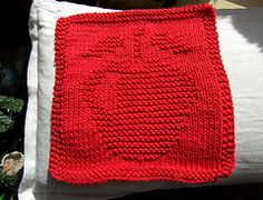 Ravelry: Knitted Apple Cloth pattern by Rhonda White