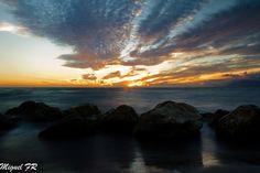 Puesta de Sol - Primer atardecer del año 2016 en las playas de Marbella