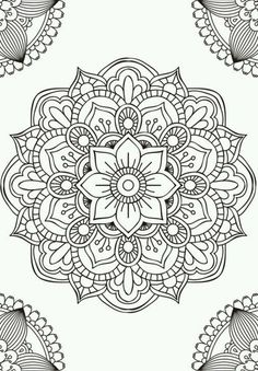 Mandala fleur simple unique doodle art doodle it. Mandalas Painting, Mandalas Drawing, Mandala Coloring Pages, Dot Painting, Colouring Pages, Adult Coloring Pages, Easy Mandala Drawing, Mandala Sketch, Leaf Drawing