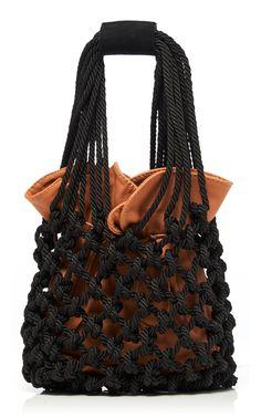 Shop La Vida De Un Pescador Bag. Johanna Ortiz's 'La Vida De Un Pescador' bag is crafted in a softly constructed silhouette with a braided rope shell and dual top handles. Womens Designer Bags, Coral Print, Nancy Gonzalez, Macrame Bag, Beaded Bags, Textiles, Handmade Bags, Fashion Bags, Purses