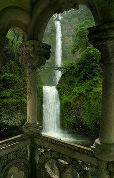 Double Waterfall Oregon