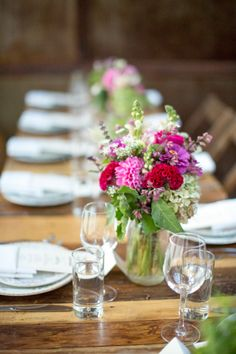 #centerpiece  Photography: Betsi Ewing Photography - betsiewing.com  Read More: http://www.stylemepretty.com/2014/07/25/eclectic-urban-wedding-at-the-brooklyn-winery/