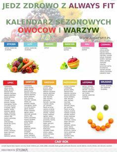 Kalendarz sezonowych owoców i warzyw Healthy Habits, Healthy Tips, Healthy Eating, Healthy Foods, Health Diet, Diet Tips, Food Inspiration, Healthy Lifestyle, Food Photography