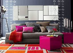 Image result for pink and orange home decor