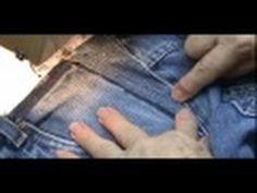 Vídeo-aula Alargar calça jeans ou (bermudas shorts) ( parte2)