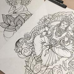 Prepping for a couple of amazing clients this week 🖤 #art #design #penandink #handdrawn #sketch #instafineliner #mehndi #mehnditattoo #mandala #mandalatattoo #lineart #tattooart #domholmestattoo #theblacklotusstudio #iblackwork #instaart #blxckmandalas #beautiful_mandalas