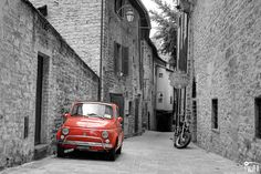 Fototapeta czarno-biała + czerwony