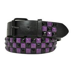 emo studded belts | ... Banana Purple Stud belt – mens emo belts – womens emo belts UK