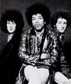 Jimi Hendrix Experience ~ I had this poster on my bedroom wall, or one similar from one of his albums :)
