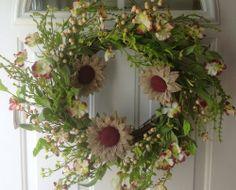 Summer Door Wreaths, Wreaths For Front Door, Burlap, Floral Wreath, Doors, Amazon, Country, Home Decor, Floral Crown