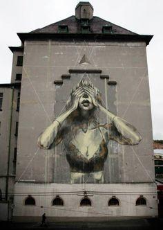 Mural artwork by Faith47, Italy #street #art #graffiti