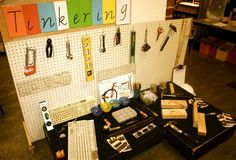 Tinkering table set up