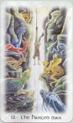 THE HANGED MAN - CELTIC DRAGON TAROT