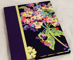 iPad Case, iPad 2, iPad 3 Cover, Hardcover Case Converts to Stand,  Personalized, Amy Butler Water Bouquet, Plum Spine