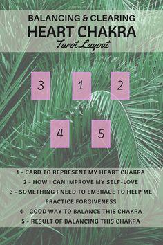 Heart chakra tarot spread