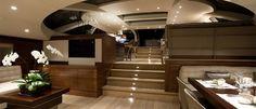 Salperton IV yacht interior - Designer: Adam Lay Studio. Internal stairs.