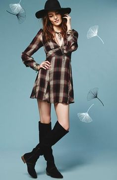 $128 nwt FREE PEOPLE sz 4 TEEN SPIRIT plain mini dress in washed black combo #FreePeople #EmpireWaist