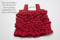 Ok... I have to learn how to sew a ruffle and then I really think I can do this! It's all explained step by step.