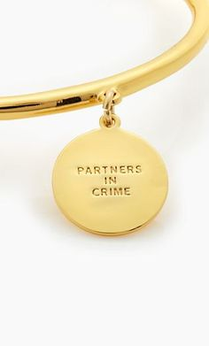 'partners in crime' charm bangle #katespade