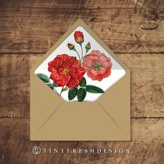 Printable Custom Envelope Liner Template By Tinyfreshdesign