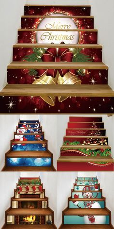 Up to 80% off,Christmas 6Pcs Stair Stickers | Rosewholesale,rosewholesale.com,rosewholesale clothing,home decoration, stairs sticks, Christmas decoration,christmas crafts,christmas decor diy | #rosewholesale #christmas #decoration