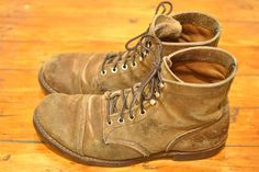 Today's Fade of the Day features a pair of Red Wing Iron Ranger boots, worn over five long years. Red Wing 8113, Red Wing Beckman, Red Wing Iron Ranger, Cool Boots, Man Boots, Red Wing Boots, Engineer Boots, Sneaker Boots, Fashion Company