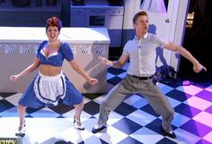 Derek Hough &  Bethany Mota  danced a Lucille Ball & Ricky Ricardo salsa  -  Dancing With the Stars  -  Season 19  -  Week 8  -  Fall 2014