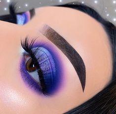 Purple Makeup Looks, Makeup Eye Looks, Eye Makeup Art, Cute Makeup, Gorgeous Makeup, Eyeshadow Makeup, Beauty Makeup, Eyeliner, Creative Eye Makeup