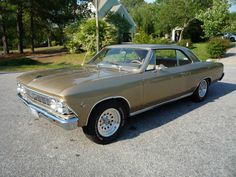 1966 Chevrolet Chevelle Malibu - Mine was grey with a black vinyl roof - This was my very first car.