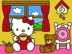 Hello Kitty Wallpaper (Kitty Drink Coffee) by Kittykun123.deviantart.com on @DeviantArt