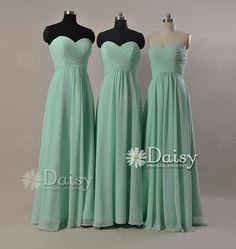 Mint green bridesmaid dress