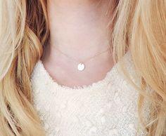 Initial Choker Necklace Gold Filled Initial Necklace by teilla