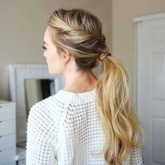 Twisted Pony  Always a favorite go-to  Tutorial anyone?  Inspo from @hair.by_nat #missysueblog