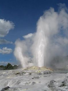 geyser in rotoura, New Zealand...smelly but magical