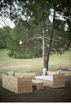 Salon de jardin en palettes écologique