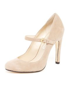 KORS Michael Kors  Galli Suede Mary Jane Pump. ($195)  I hate wearing heels BUT these I would buy and wear! :)