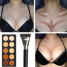 Get bigger boobs ( with makeup)