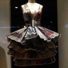 vestido de papel reciclado.19bis.com