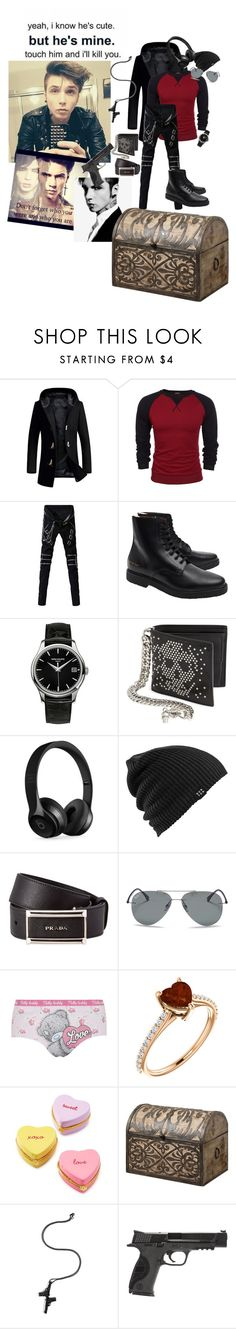 """The D -Andy"" by nefelibata-anons ❤ liked on Polyvore featuring Common Projects, Patek Philippe, Alexander McQueen, Beats by Dr. Dre, injury, Burton, Prada, Ray-Ban, George and Two's Company"