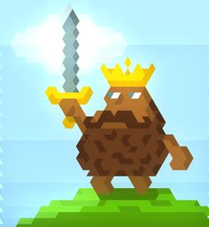 Potato King!One of the characters from Jordi my card game Potato Knights drawn in Hexels. The King being the core of the army, you have to defeat your opponents king to win the game and keep yours alive. But don't be too worried they pack quite a punch as well. -johnig