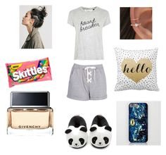 """""""Sleepover..."""" by ehlimana-alihodzic ❤ liked on Polyvore featuring Boohoo, Forever 21, Tee and Cake and Givenchy"""