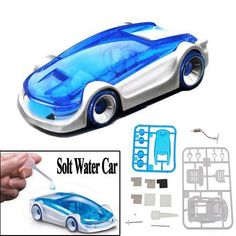 DIY Green Energy Educational Salt Water Fuel Power Car Toys for Kids