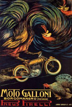 Vintage Italian Posters ~ #illustrator #Italian #posters ~ 1922 Pirelli Poster