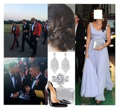 """Attending the Regimental Sergeant Major's Conference Dinner at Royal Military Academy Sandhurst"" by crownprincesselizabeth ❤ liked on Polyvore featuring Alexander McQueen and Christian Louboutin"