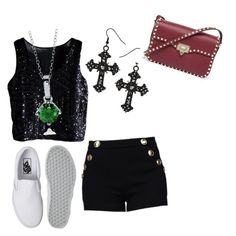 """""""Selene # 3"""" by black-337 on Polyvore featuring Boutique Moschino, Vans, BERRICLE and Valentino"""