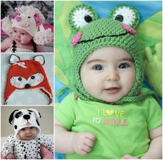Free Crochet Animal Hats!