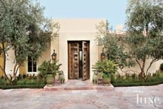 The #entrance to a #historic Santa Fe #colonial-style home. See more at www.luxesource.com.